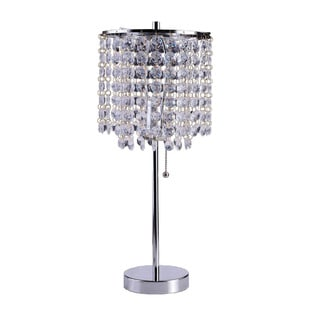 Mini Crystal Table Lamps: Art Deco Glam Dangling Crystal Table Lamp,Lighting