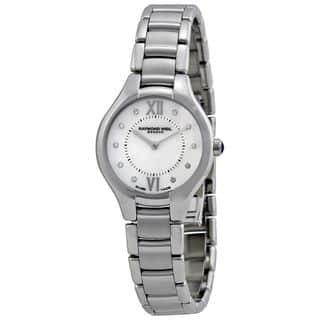 Raymond Weil Women's 5127-ST-00985 'Noemia' Diamond Silver Stainless steel Watch https://ak1.ostkcdn.com/images/products/10203125/P17326794.jpg?impolicy=medium