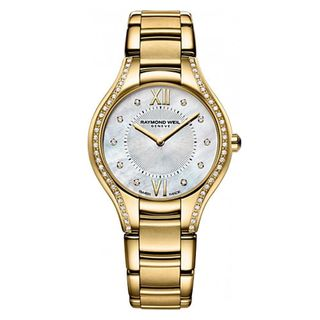 Raymond Weil Women's 5132-PS-00985 'Noemia' Diamond Gold tone Stainless steel Watch