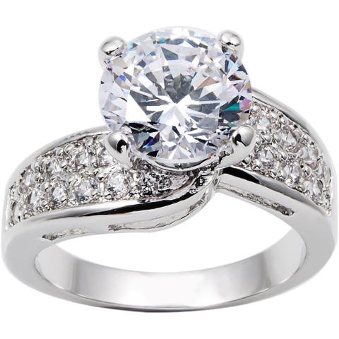3.0ct Engagement / Bridal AAA CZ Ring by Simon Frank Designs
