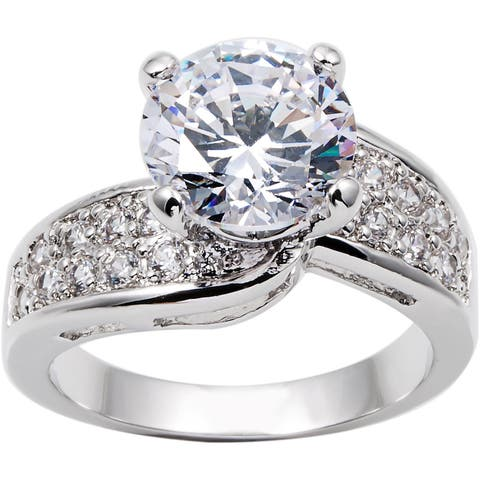 3.0ct TDW Engagement/Anniversary Cubic Zirconia Ring by Simon Frank Designs