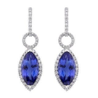 18k White Gold 1 1/5ct TDW Tanzanite and White Diamond Earrings (G-H, SI)