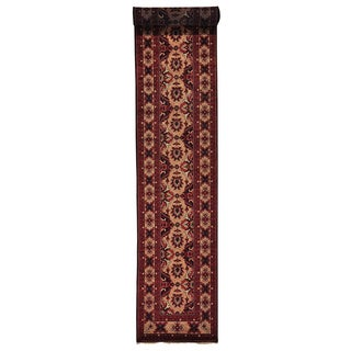 Hand-knotted XL Runner Afghan Khamyab Oriental Rug (3' x 19')
