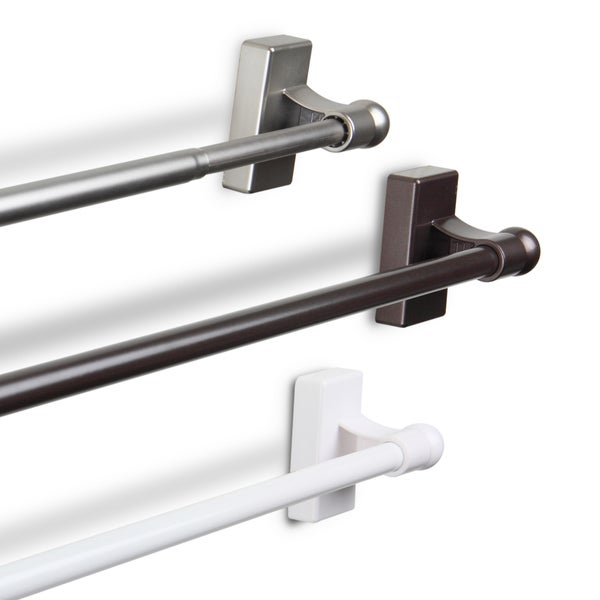 ... Shower Curtain Rod · Instyledesign Adjule 17 30 Inch Magnetic Hanging  Rod Free ...