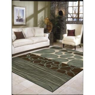 Rug Squared Jericho Multicolor Rug (3'6 x 5'6)