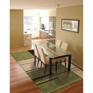 Rug Squared Jericho Green Rug (3'6 x 5'6)