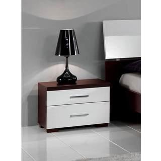 Luca Home Wenge/White Nightstand