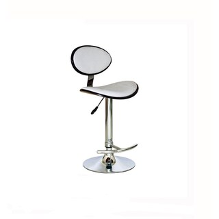 Luca Home PU White, Black Leather Adjustable Swivel Barstool (2 options available)