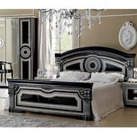Luca Home Black/Silver Bed
