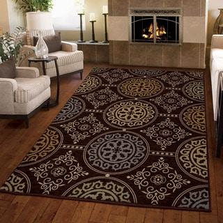 Carolina Weavers Harmony Collection Mazarin Brown Area Rug (3'11 x 5'5)