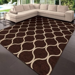 "Simplicity Pyrenees Brown Area Rug (3'11"" x 5'5"")"