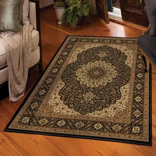 "American Heirloom Osteen Black Area Rug (3'11"" x 5'5"")"