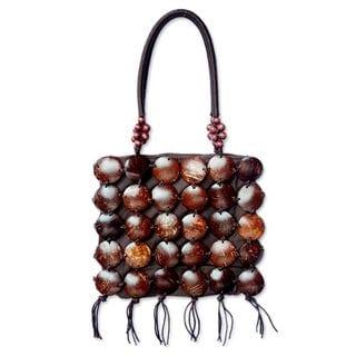Handmade Coconut Shell 'Coco Art' Handbag (Thailand)