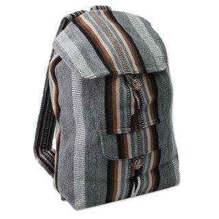Handmade Alpaca Blend 'Winter Skies' Backpack (Peru)