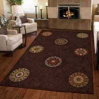 Carolina Weavers Harmony Collection Aracadia Brown Area Rug (3'11 x 5'5)