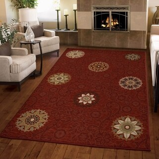 Carolina Weavers Harmony Collection Aracadia Cinnabar Area Rug (3'11 x 5'5)