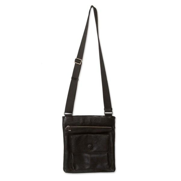 55842b740c04 Shop Handmade Men s Leather  Peruvian Traveler  Messenger Bag (Peru ...