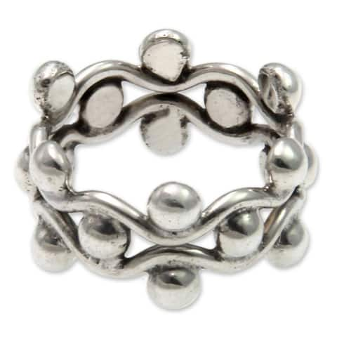 Handmade Floral Buds Sterling Silver Ring (Indonesia)