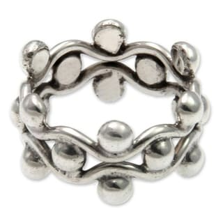 Handmade Floral Buds Sterling Silver Ring Indonesia