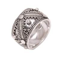 Handmade Sterling Silver 'Lavish Bali' Ring (Indonesia)