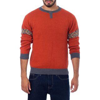 Men's Alpaca 'Chakana Wanderer' Pullover Sweater (Peru)