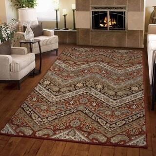 Carolina Weavers Harmony Collection Verano Cinnabar Area Rug (3'11 x 5'5)