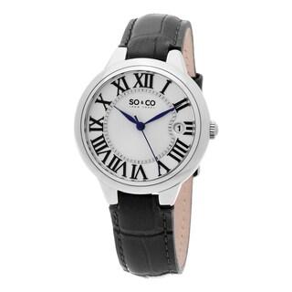 SO&CO New York Women's Madison Quartz Leather Strap Watch