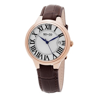 SO&CO New York Women's Madison Quartz Leather Strap Watch