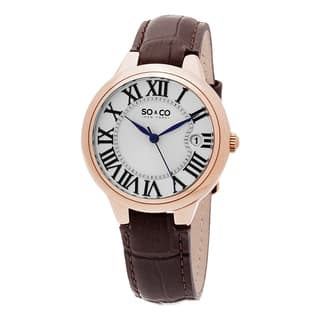 SO&CO New York Women's Madison Quartz Leather Strap Watch|https://ak1.ostkcdn.com/images/products/10203533/P17327134.jpg?impolicy=medium