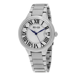 SO&CO New York Women's Madison Quartz Stainless Steel Bracelet Watch