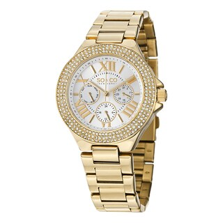 SO&CO New York Women's Madison Quartz Austrian Crystal Stainless Steel Bracelet Watch