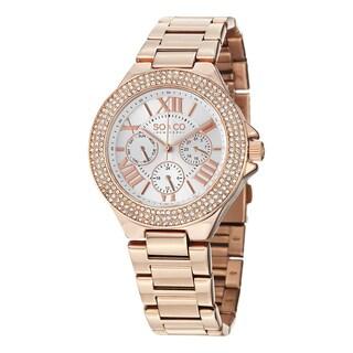 SO&CO New York Women's Madison Quartz Austrian Crystal Stainless Steel Bracelet Watch