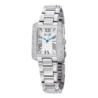 SO&CO New York Women's Watch Madison Quartz Austrian Crystal Stainless Steel Bracelet Watch
