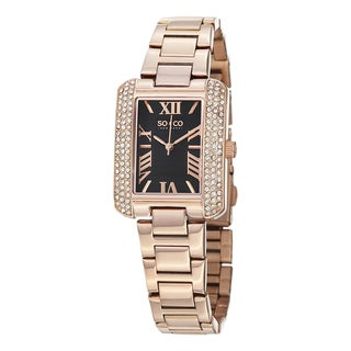 SO&CO New York Women's Watch Madison Quartz Austrian Crystal Stainless Steel Bracelet Watch - Gold