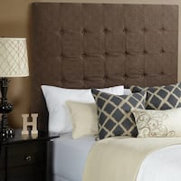Humble + Haute Stratton Chocolate Tall Upholstered Headboard