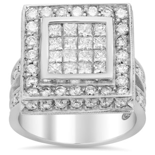 14k White Gold 2 7/8ct TDW Diamond Engagement Ring (E-F, VS1-VS2)