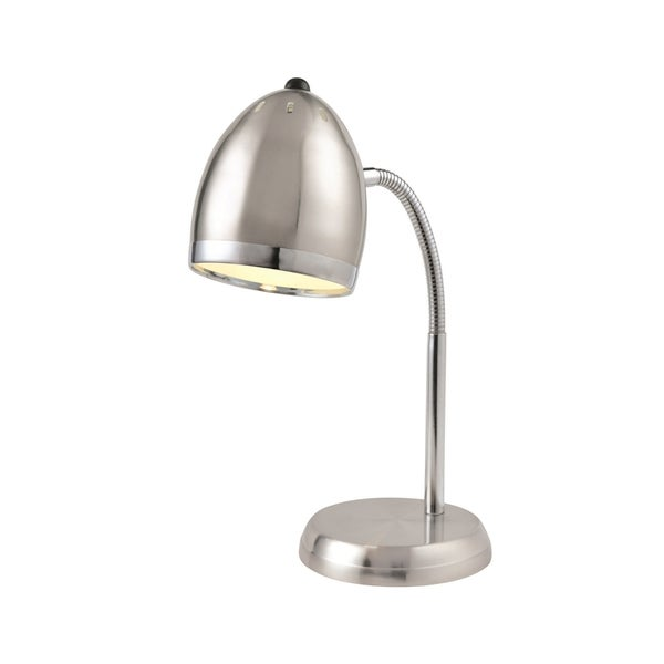 Lite Source Zachary Desk Lamp, Polished Steel