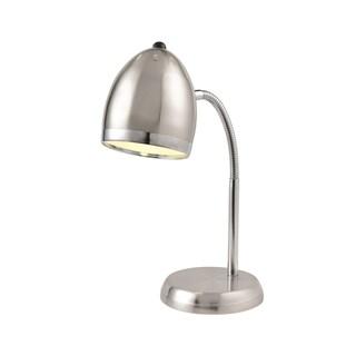 Lite Source Zachary Desk Lamp, Polished Steel