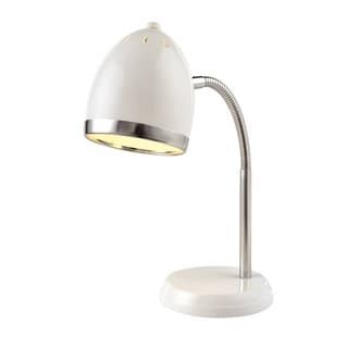 Lite Source Zachary Desk Lamp, White