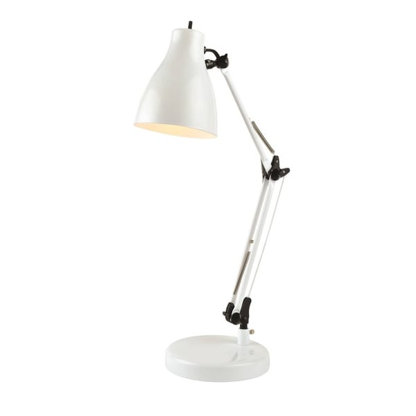 Lite Source Karolina Desk Lamp, White