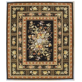 Orchid Hand Hooked Oriental Rug