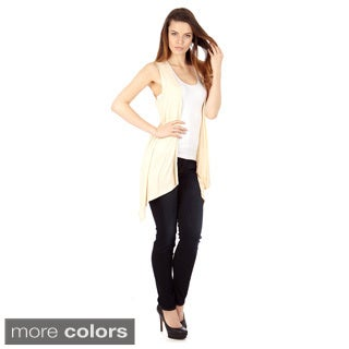 Women's Sleeveless Lightweight Flyaway Cardigan Vest (Option: M)