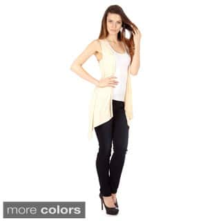 Women's Sleeveless Lightweight Flyaway Cardigan Vest|https://ak1.ostkcdn.com/images/products/10203762/P17327271.jpg?impolicy=medium
