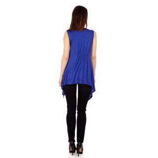 Women's Sleeveless Lightweight Flyaway Cardigan Vest