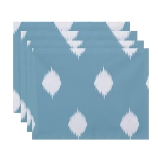 Ikat Print Decorative Holiday Table Top Placemat (Set of 4)
