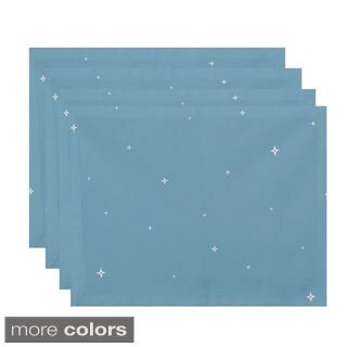 Small Stars Print Decorative Holiday Table Top Placemat (Set of 4)