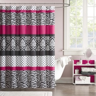 Mi Zone Gemma Microfiber Shower Curtain