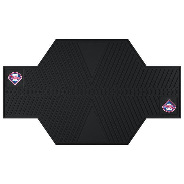 Fanmats Philadelphia Phillies Black Rubber Motorcycle Mat