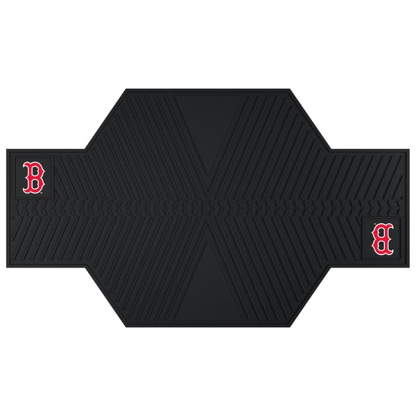 Fanmats Boston Red Sox Black Rubber Motorcycle Mat