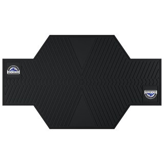 Fanmats Colorado Rockies Black Rubber Motorcycle Mat